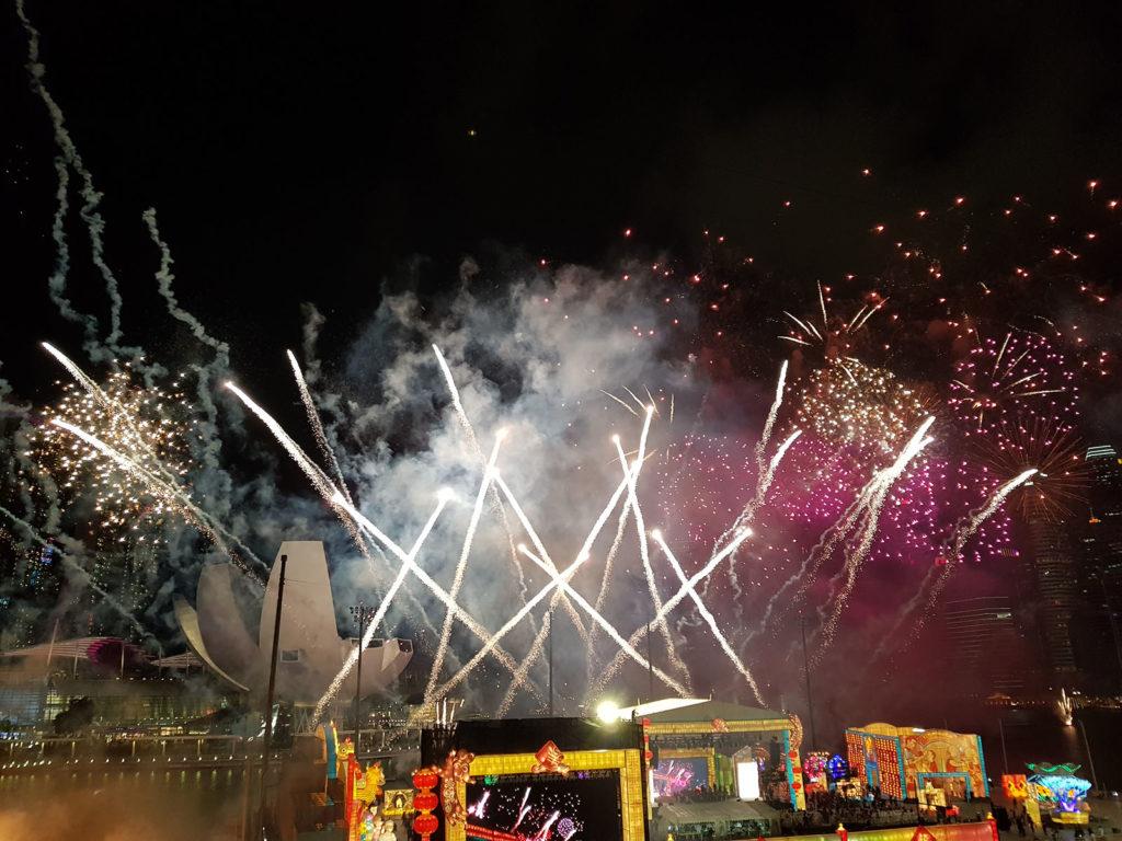 Feuerwerk in Singapur