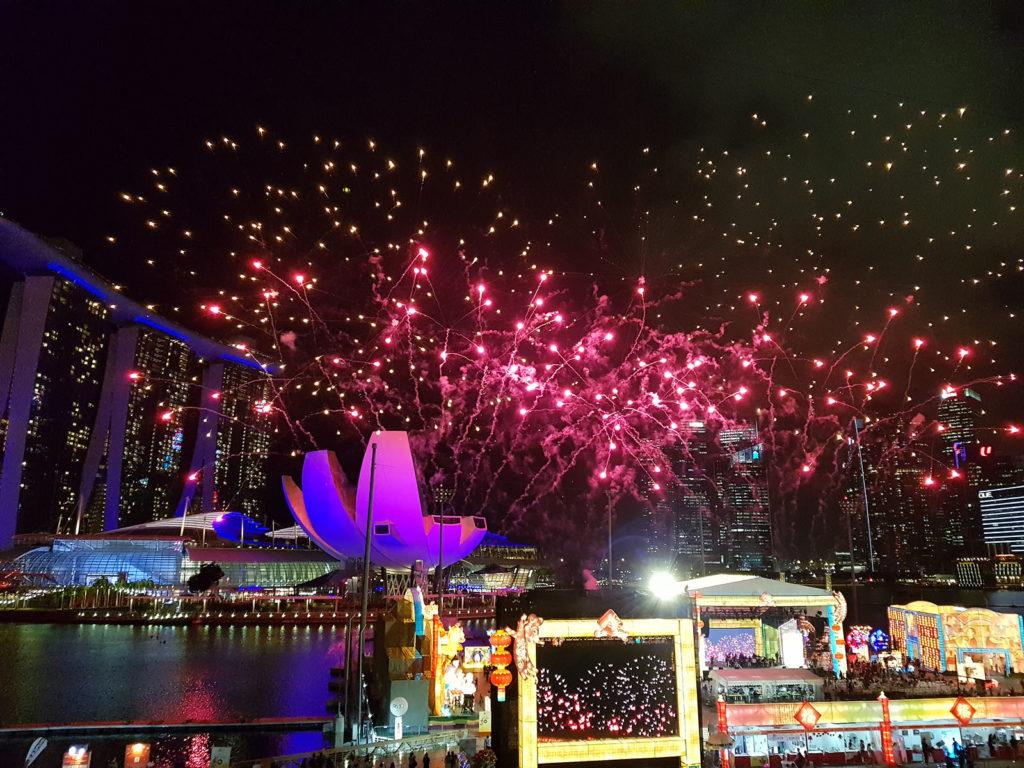 Feuerwerk zum Chinese New Year