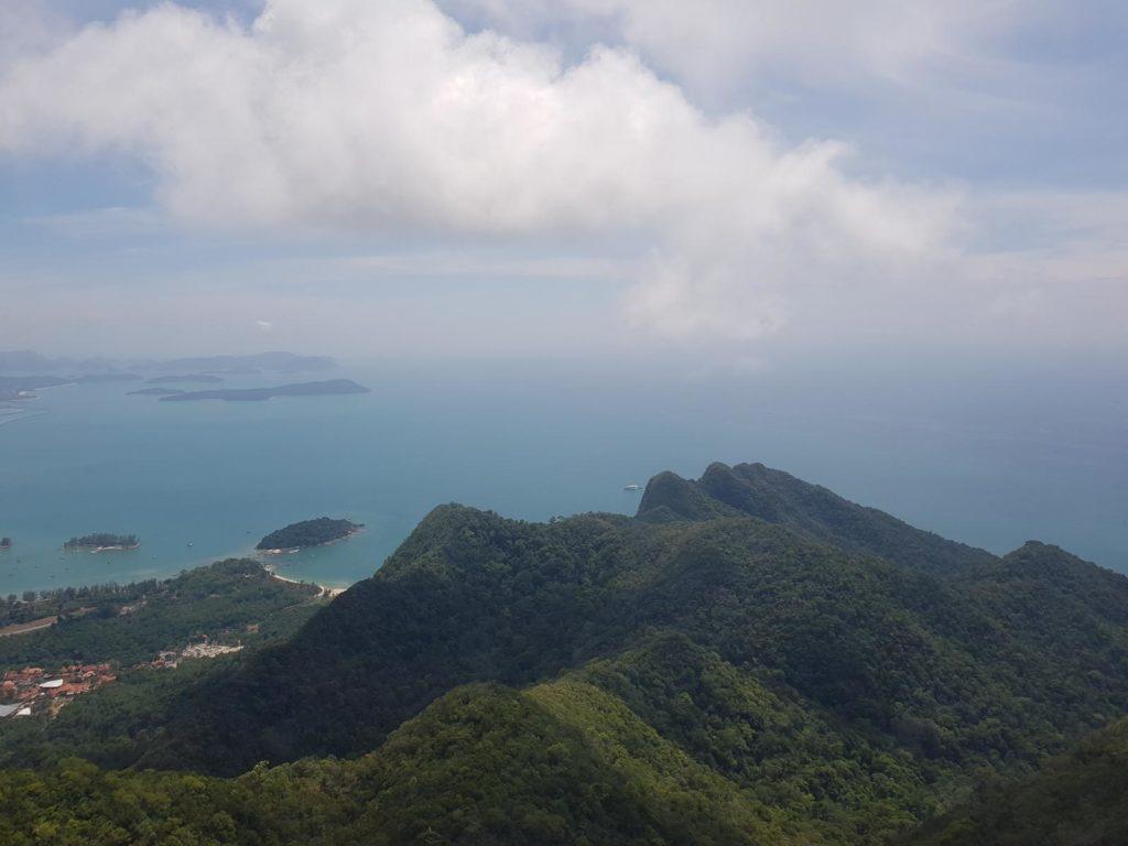Aussicht auf Insel Langkawi von Cable Car